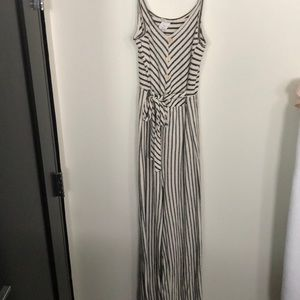 Caution to the Wind navy striped romper jumpsuit s